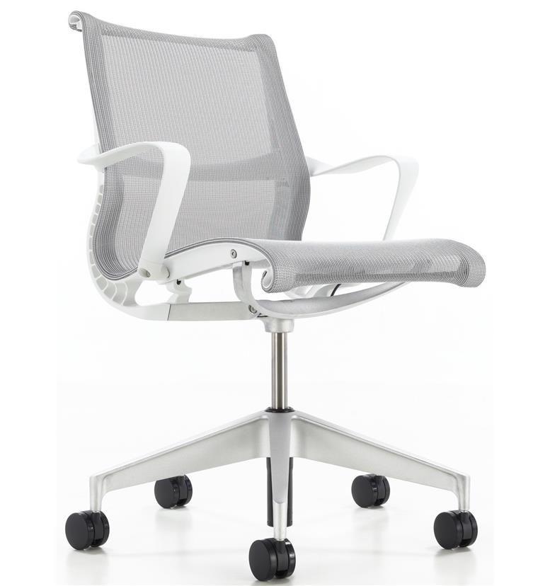 Herman Miller Setu Studio White Edition Alloy Base Office Furniture Design Setu Chair Chair