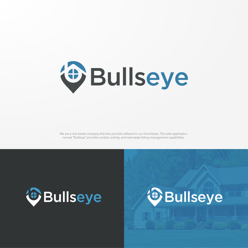 Bullseye Design A Logo For Our New Platform We Are A Real Estate Company That Also Provide Software To Our F Logo Design Contest Simple Logo Typography Logo
