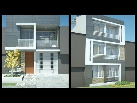 Casa moderna minimalista m x m 220 m for Fachadas de casas modernas youtube