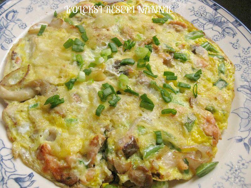 Resepi Nennie Khuzaifah Telur Dadar Cendawan N Salmon Easy Meals Salmon Cooking