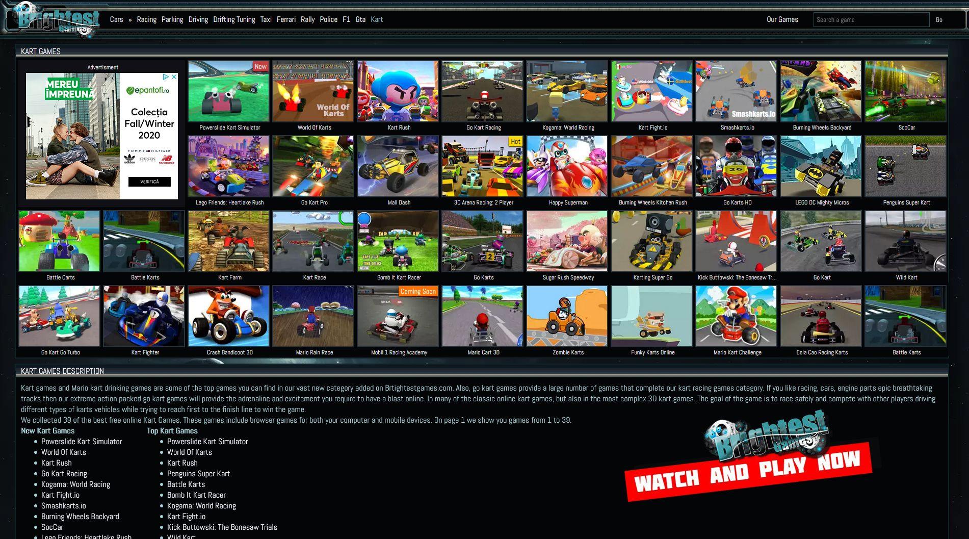 Play Kart Games Online Kart Racing Mario Kart Games Racing Games