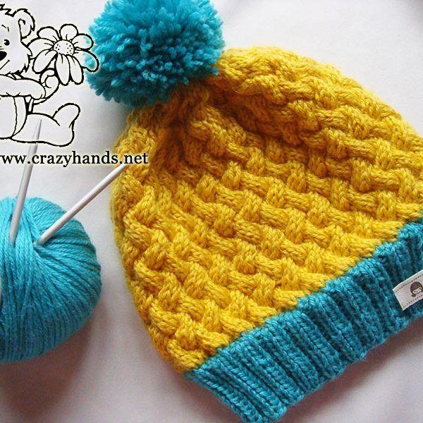 Swedish Style Knitted Hat Pattern Uses Circular Knitting Needles