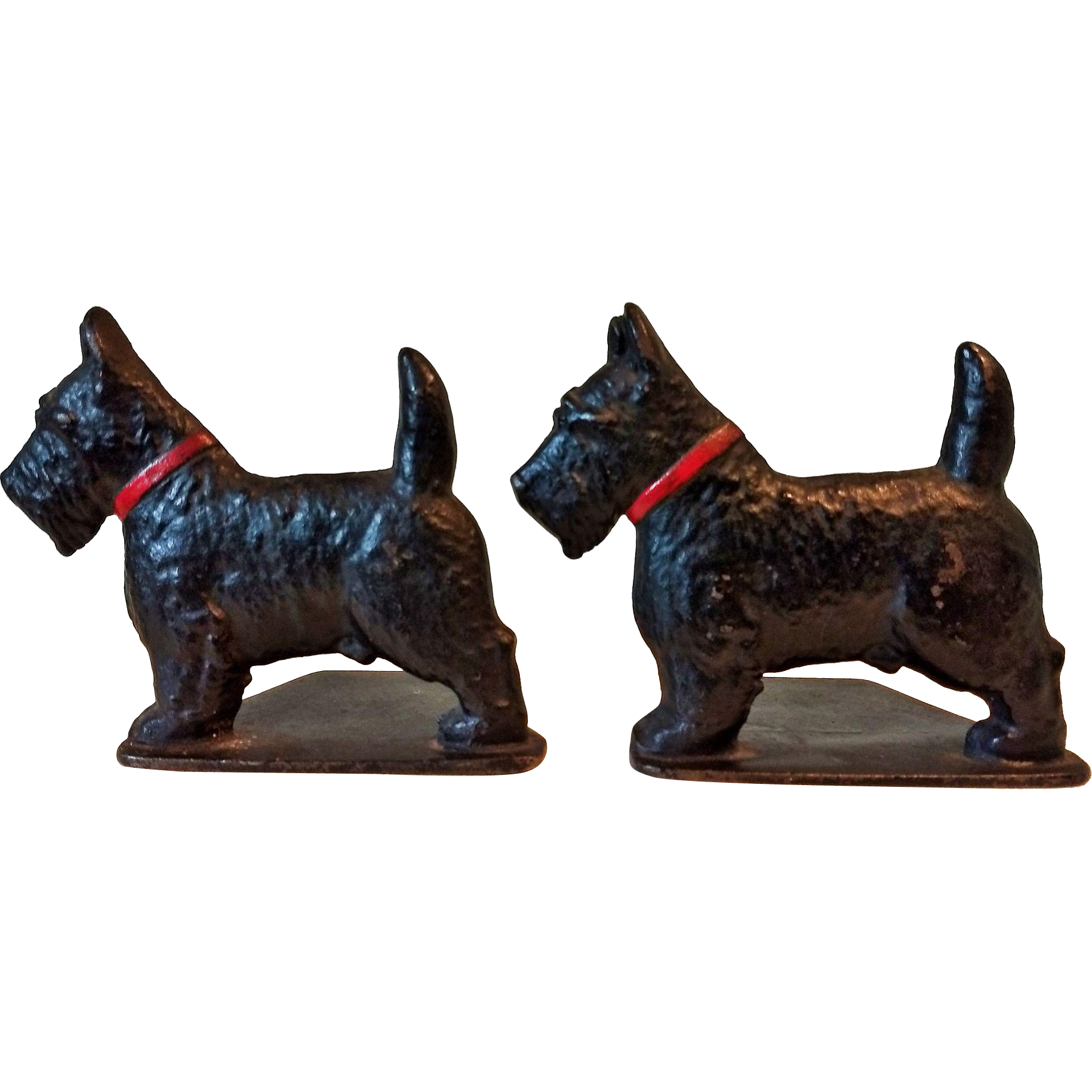 1930s Cast Iron Scotty Dog Bookends Spencer Foundry Connecticut USA ...