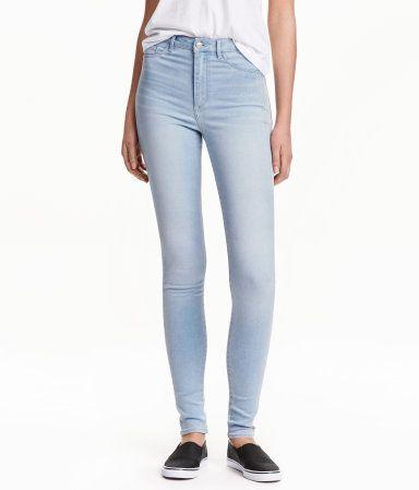 07fec15b3b370 Super Skinny High Jeggings | Light denim blue | Ladies | H&M US ...