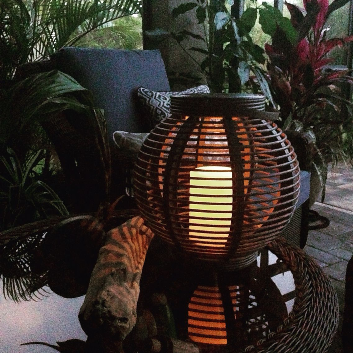 backyard beauty flame less lantern from target biscayne