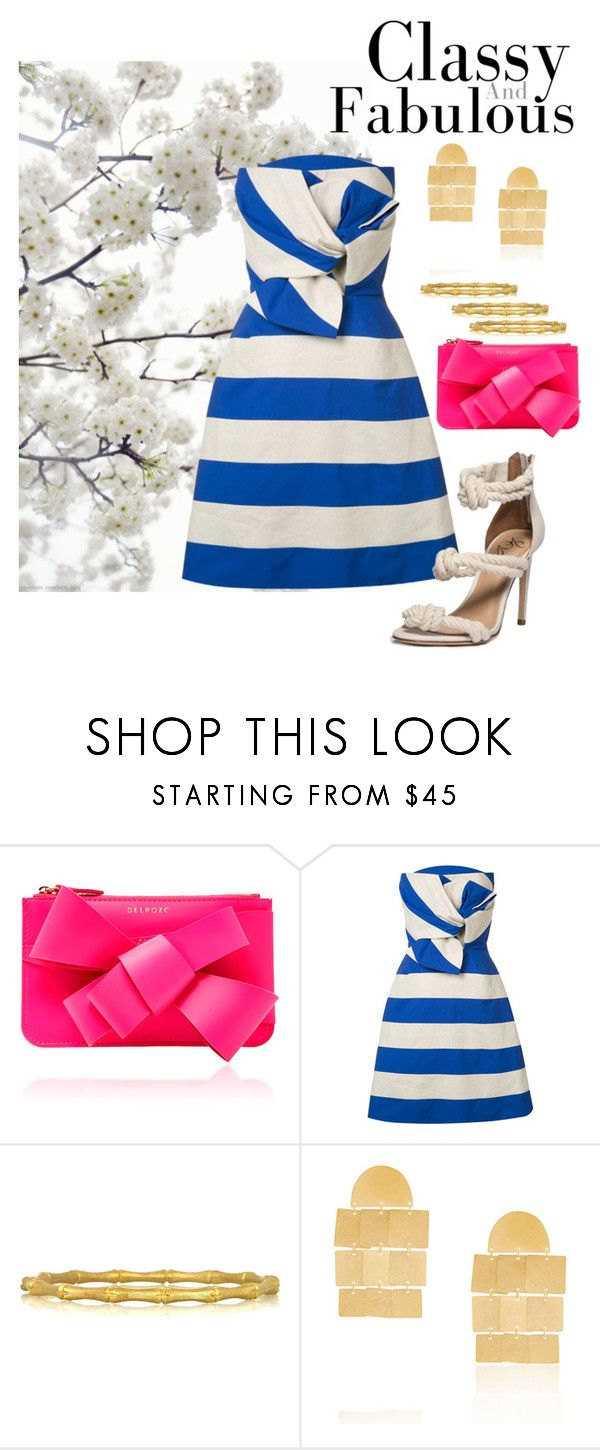 """""""Polished Prep"""" by southernpearlgir ❤ liked on Polyvore featuring Delpozo, Kenneth Jay Lane and Annie Costello Brown"""