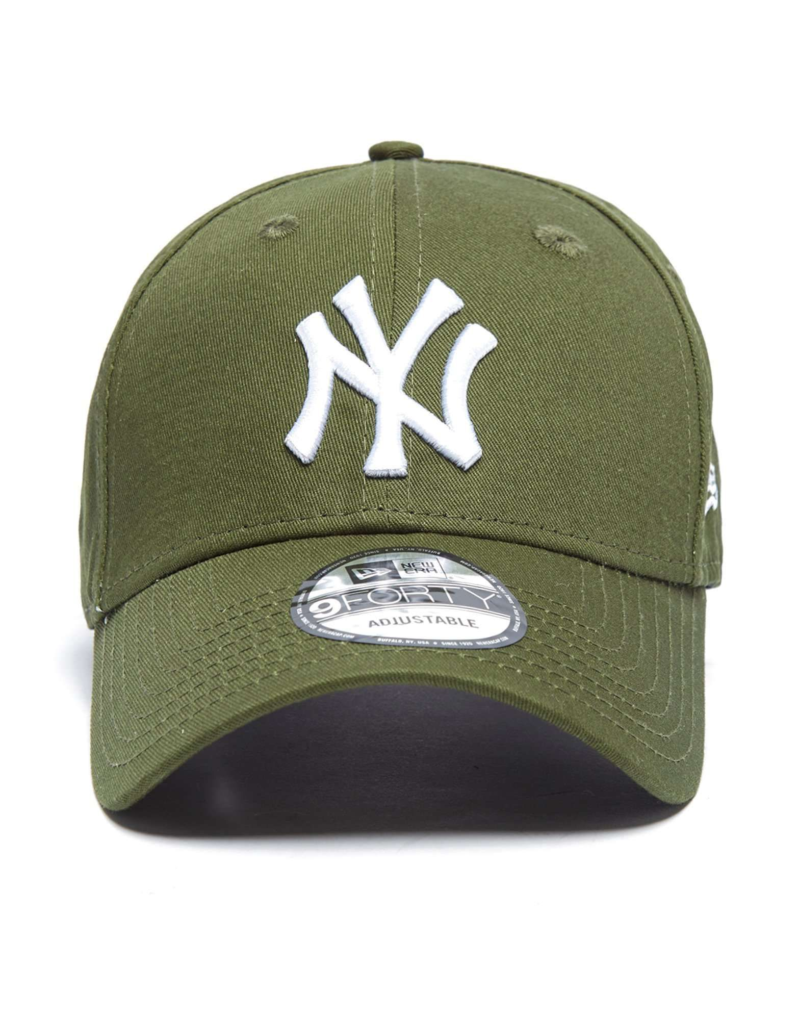 New Era Adjustable Trucker Cap Men's Accessories Mlb New York Yankees Oliv