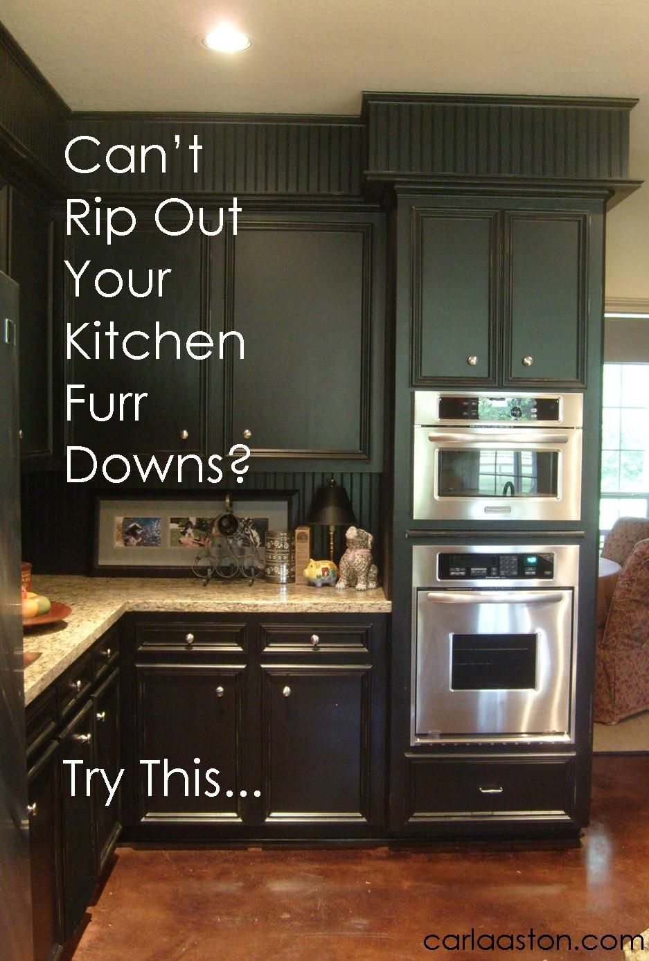 can't rip out your kitchen's furr downs? do this: | kitchen
