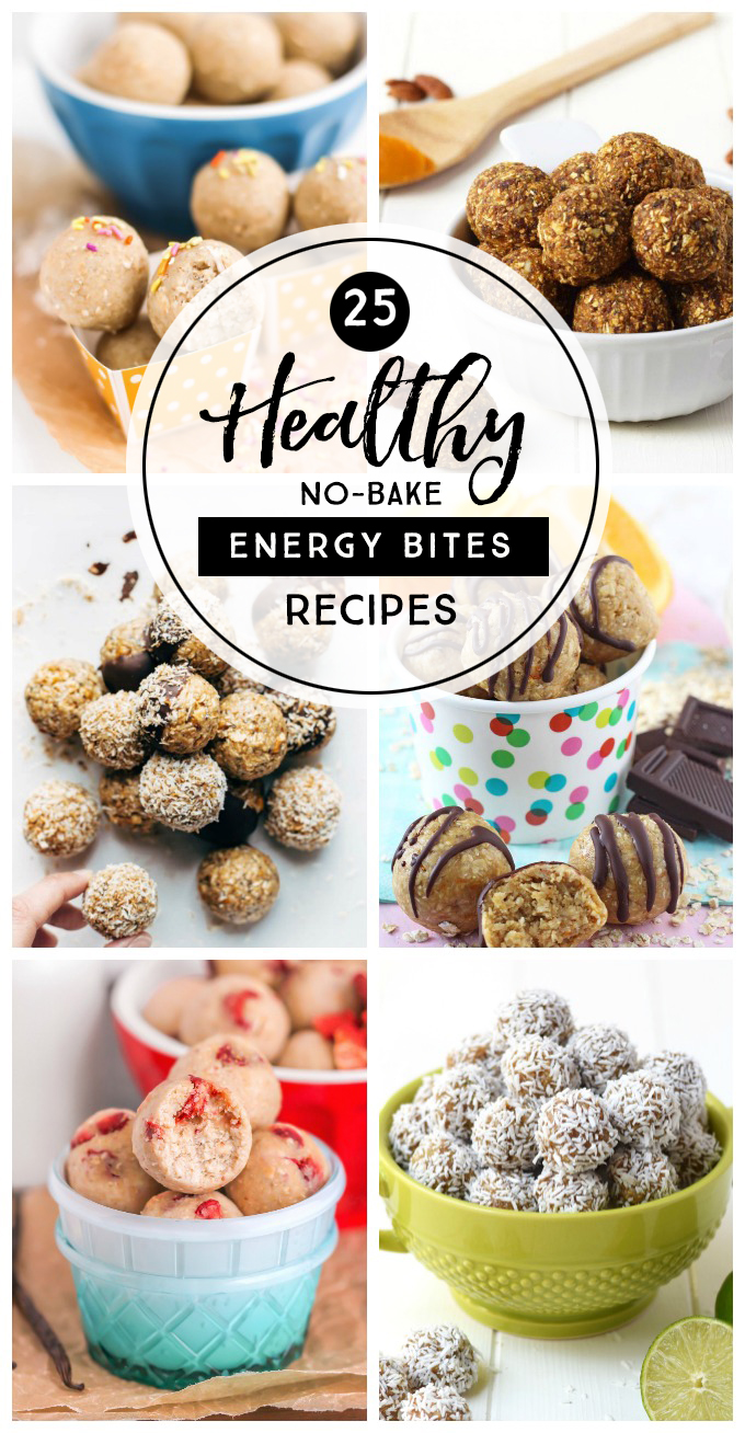 25 Healthy No-Bake Energy Bites Recipes