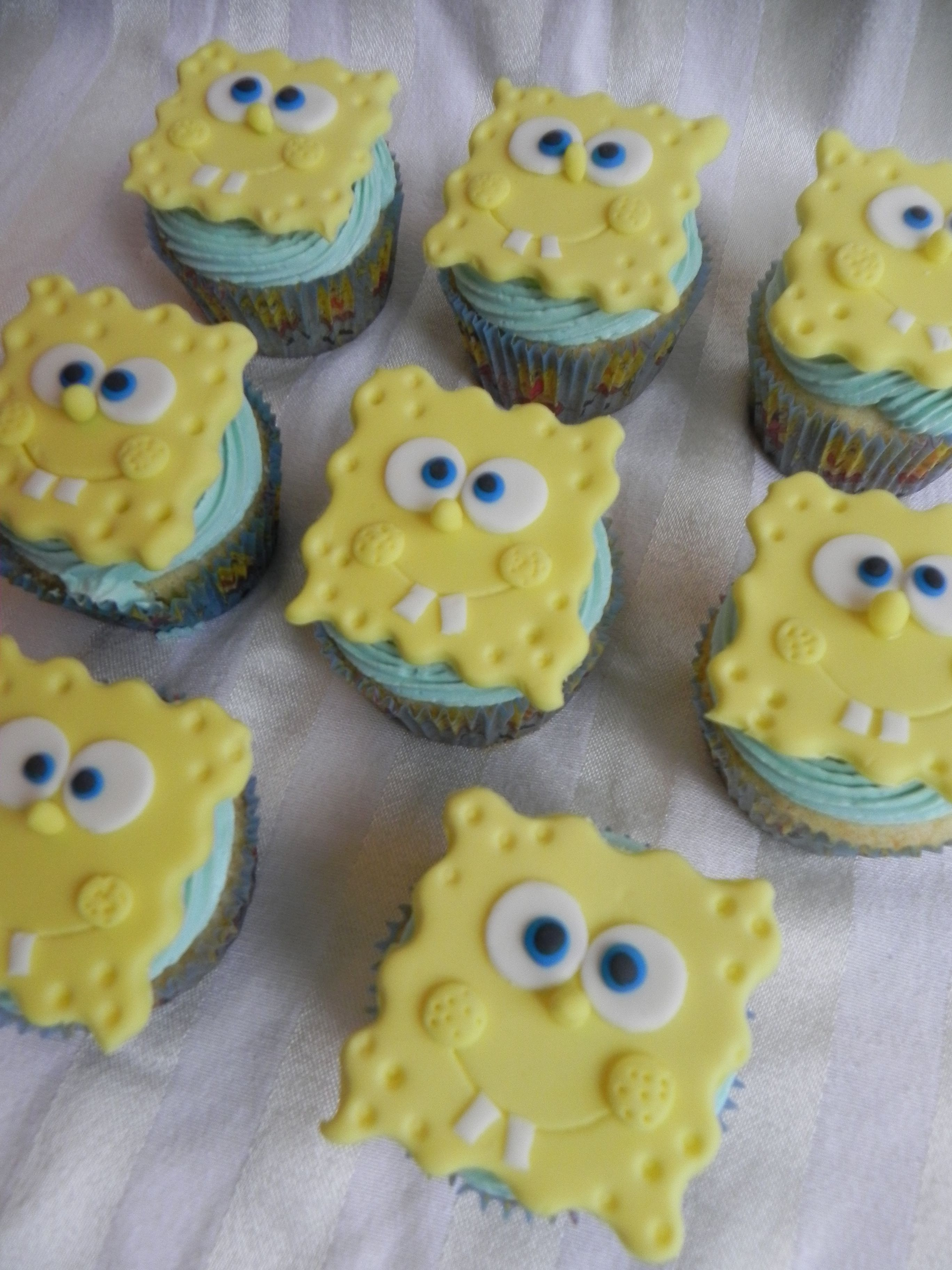 Sponge Bob Cupcakes Baby Shower Birthday Party