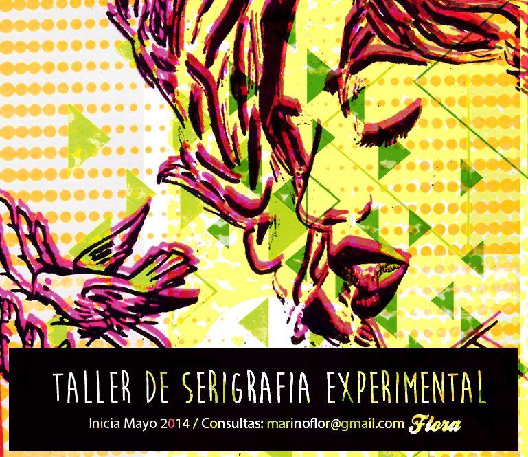 Cartel para Taller Serigrafía - Tandil 2014