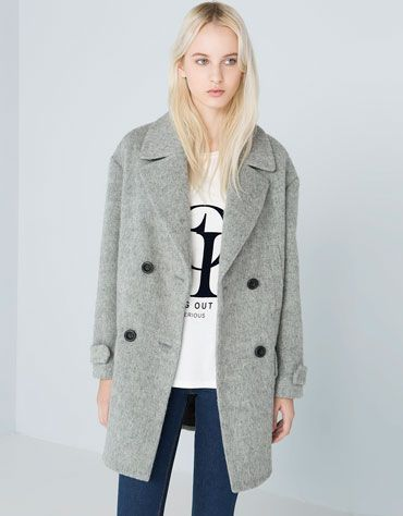 Bershka abrigo boucle