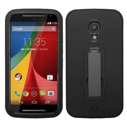 MYBAT Symbiosis Stand Motorola Moto G 2nd Gen Case - Black/Black