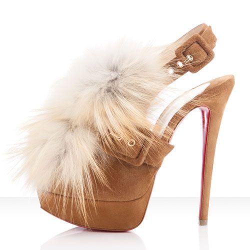 christian louboutin fur shoes