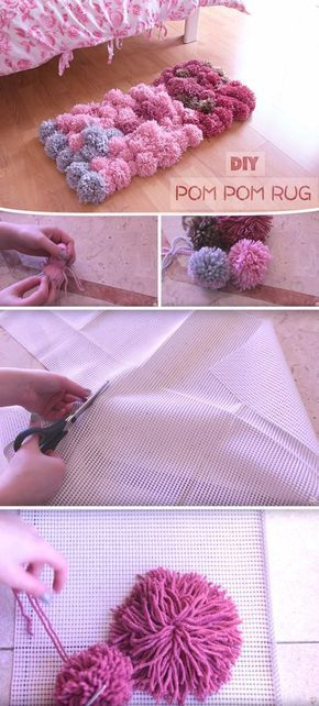 Diy Pom Pom Rug Bedroom Decor Tutorial Diy Pom Pom Rug