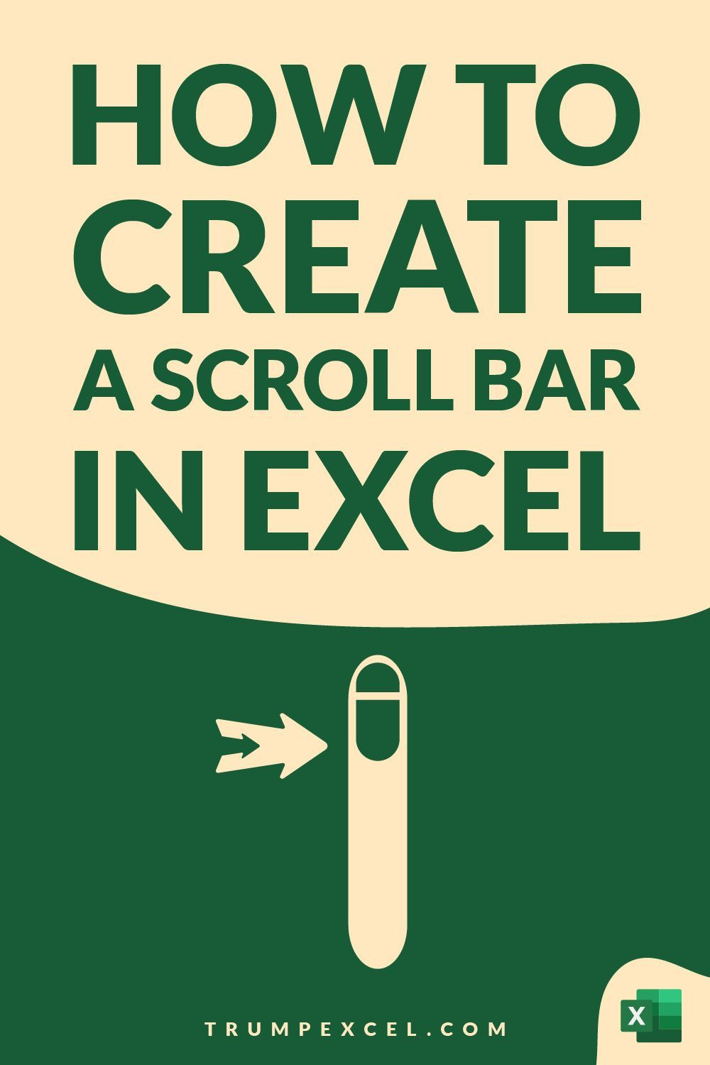 How to Create a Scroll Bar in Excel - Step by Step
