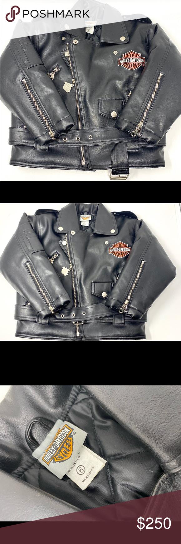 Harley Davidson Leather Jacket Kids Size 6 Black Harley Davidson Leather Jacket Kids Size 6 Black Ha Harley Davidson Leather Jackets Kids Jacket Fashion Trends [ 1740 x 580 Pixel ]