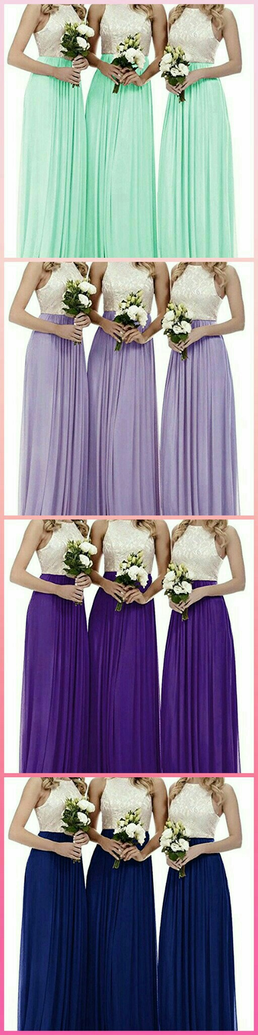 Royal blue wedding dresses plus size  ZVOCY Womenus Halter Lace Chiffon Bridesmaid Dresses Long Wedding