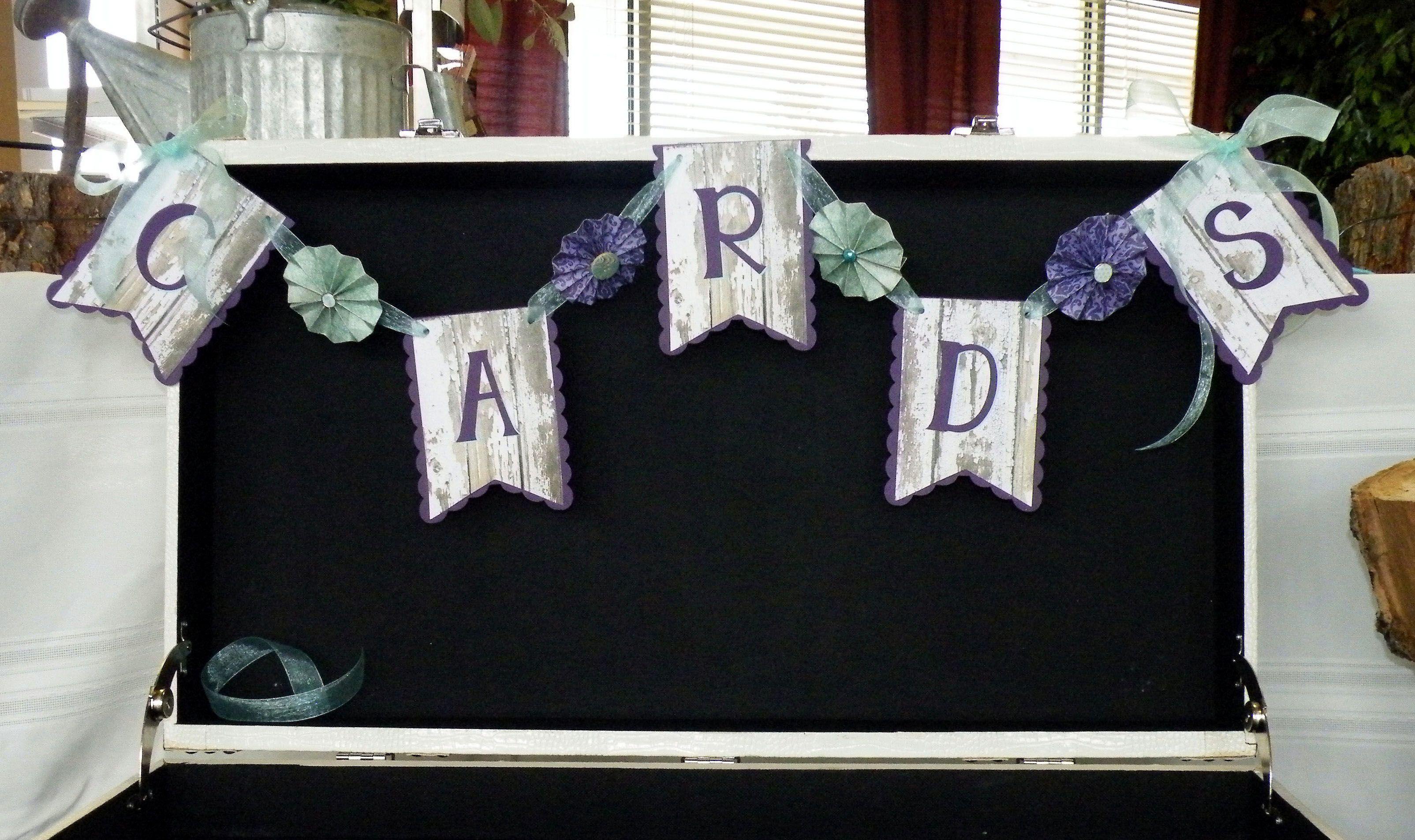 Wedding Cards Banner - Scrapbook.com #Cricut   Card banner ...