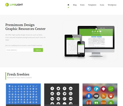 Limelight Download Gallery Responsive Website Template by ...