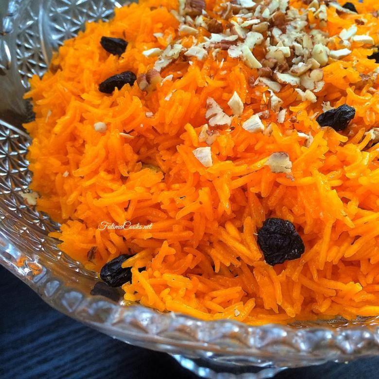 Zarda - Pakistani Sweet Rice with Nuts, Raisins & Cardamom ...