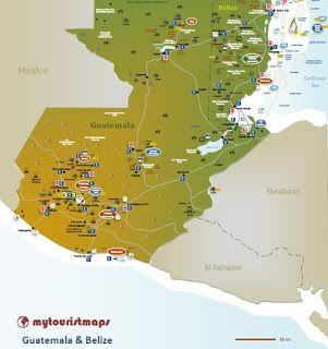 Interactive Tourist Map Guatemala Belize
