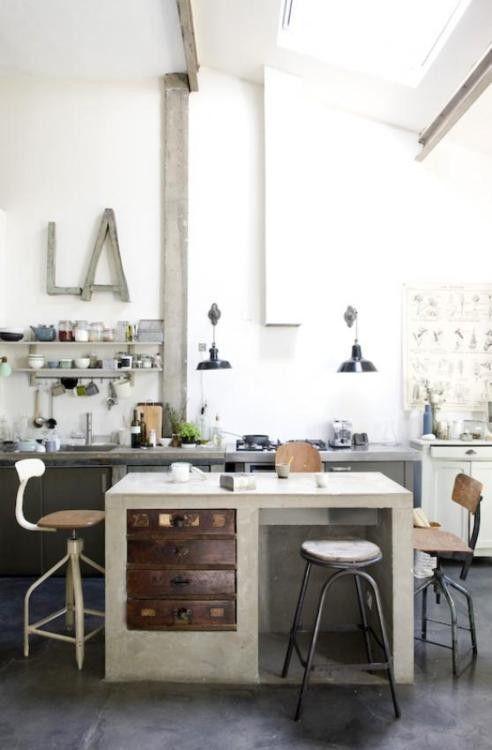Industrial kitchen Home Pinterest Küche - farben für küchenwände