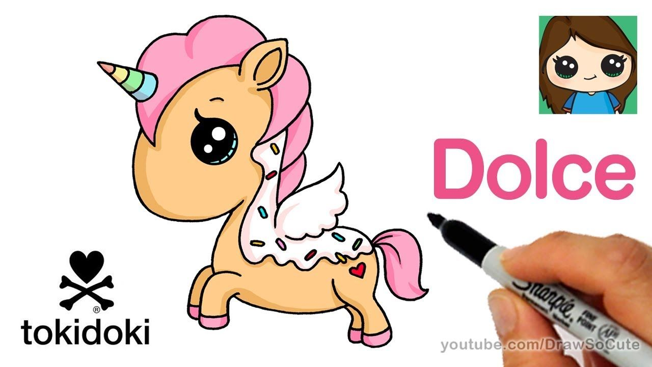 How To Draw A Cute Unicorn Easy Dolce Tokidoki Youtube With