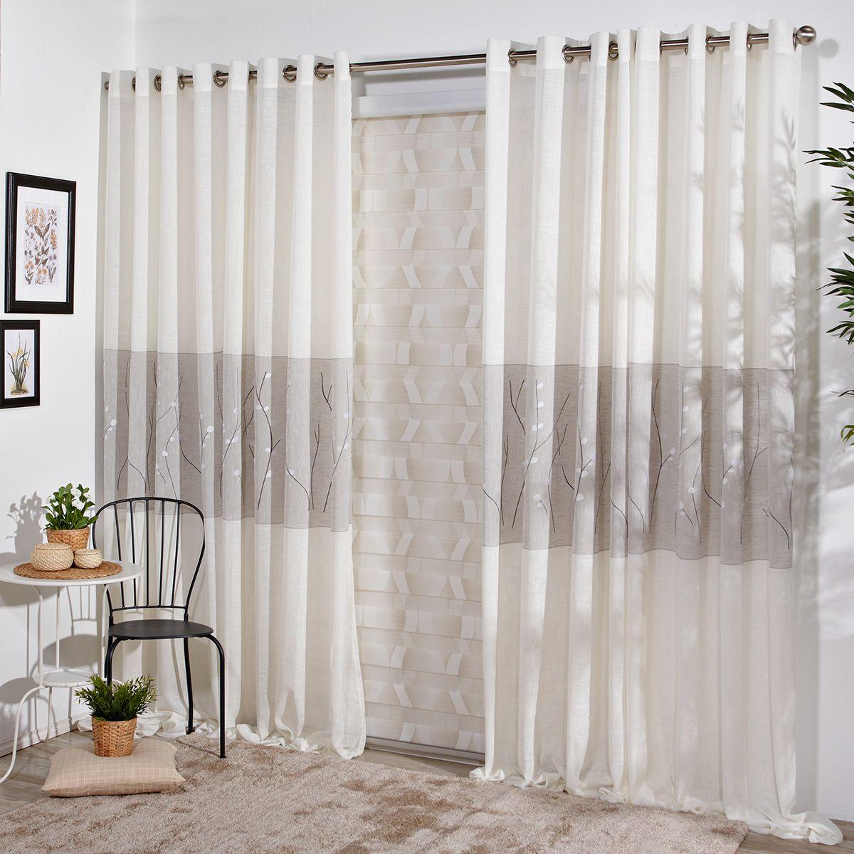Cortina confeccionada waco decoraci n pinterest cortinas confeccion de - Visillos para salones ...