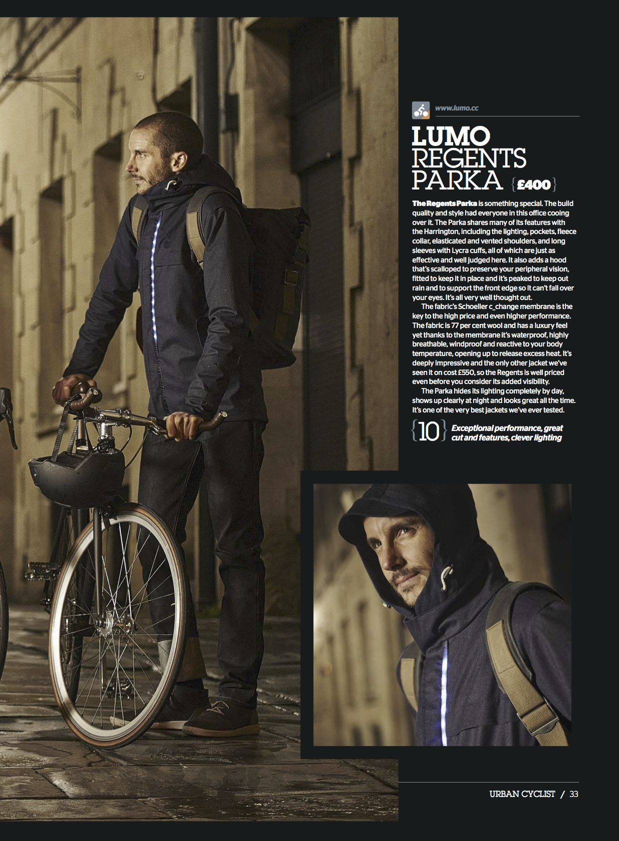 Urban Cyclist Lumo Regents Parka Jacket Review Lumo Parka