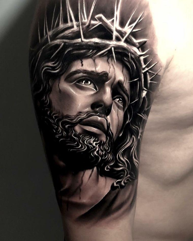 Jesucristo Significados De Los Tatuajes Con Sus Diferentes Imagenes Tatuaje De Jesús Tatuaje De Cristo Tatuaje Jesucristo