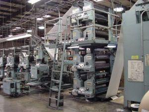 Goss Community Web Press Printing Press Prints Pressing