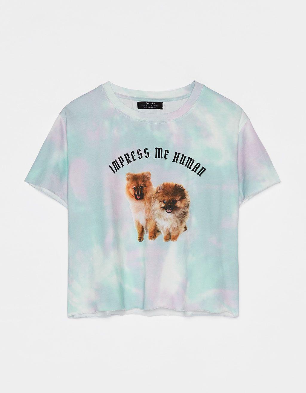 Koszulka Tie Dye Z Nadrukiem