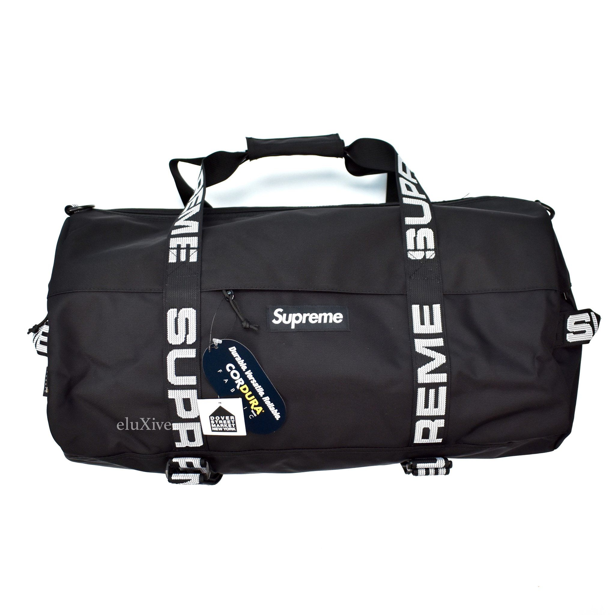 Supreme - Black Box Logo Duffle Bag (SS18)  d807b0c271c0e