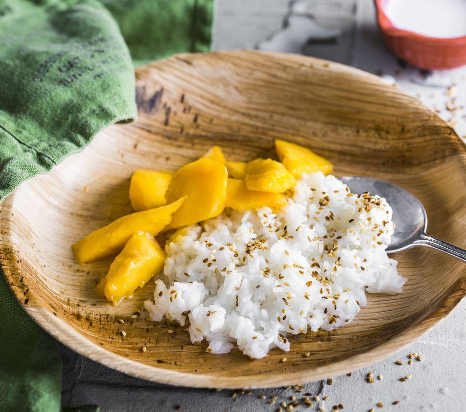 Sticky Rice mit Mango - Rezepte mit FOODBOOM | FOODBOOM