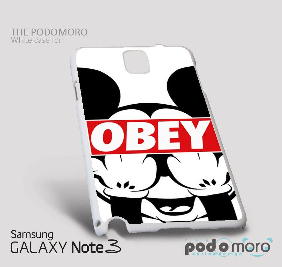 Obey Mickey for iPhone 4/4S, iPhone 5/5S, iPhone 5c, iPhone 6, iPhone 6 Plus, iPod 4, iPod 5, Samsung Galaxy S3, Galaxy S4, Galaxy S5, Galaxy S6, Samsung Galaxy Note 3, Galaxy Note 4, Phone Case