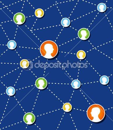 Social Network Connection Diagram Cloud Cloud Computing