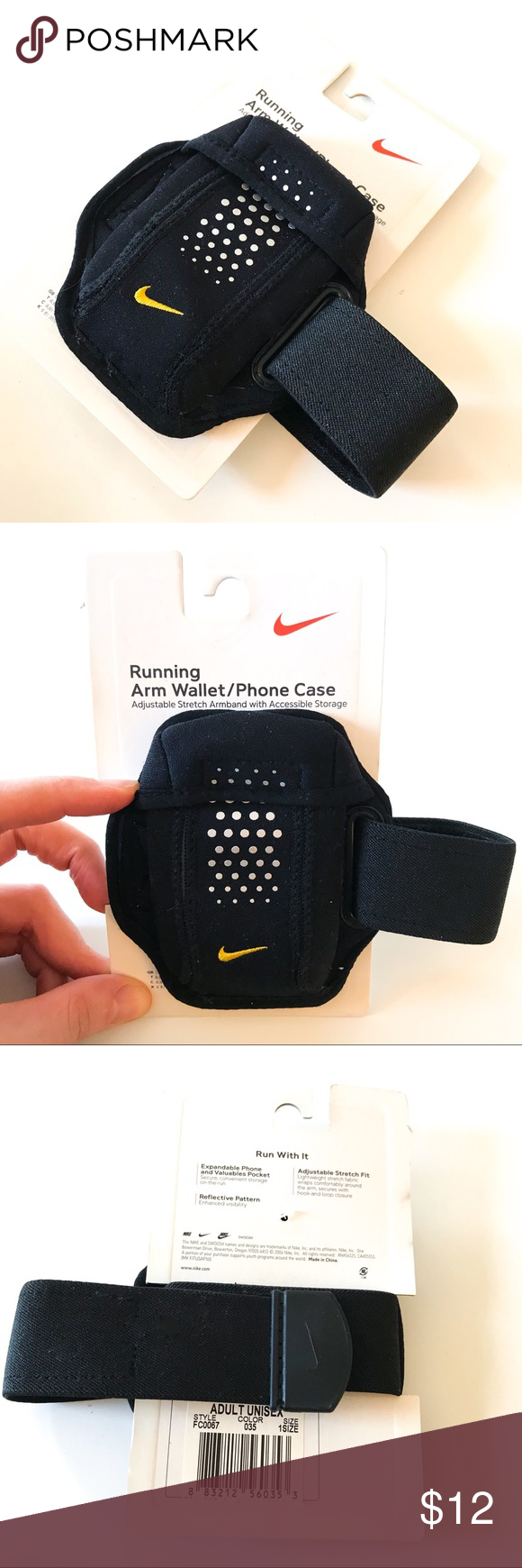 Nike armband running accessory holder nwt armband running and