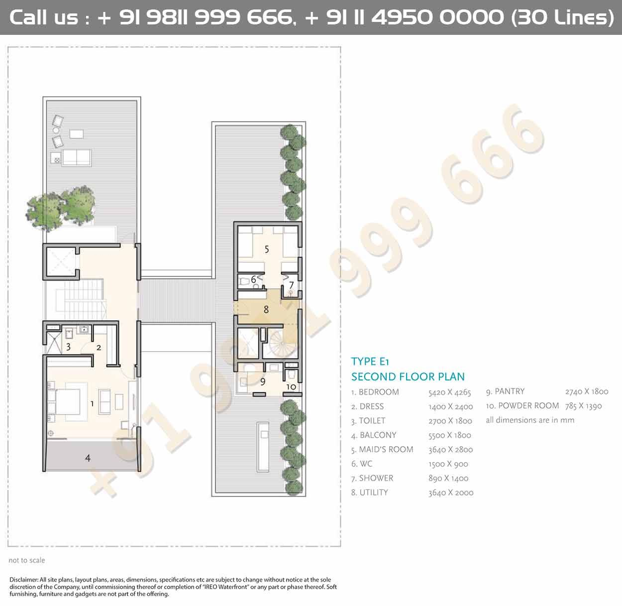 Type E1 Second Floor Plan Floor Plans House Construction Plan Luxury House Designs