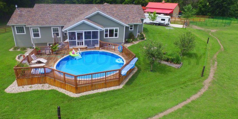 Above Ground Pool Installation Photos The Pool Factory Swimming Pool Decks Pool Deck Plans Best Above Ground Pool