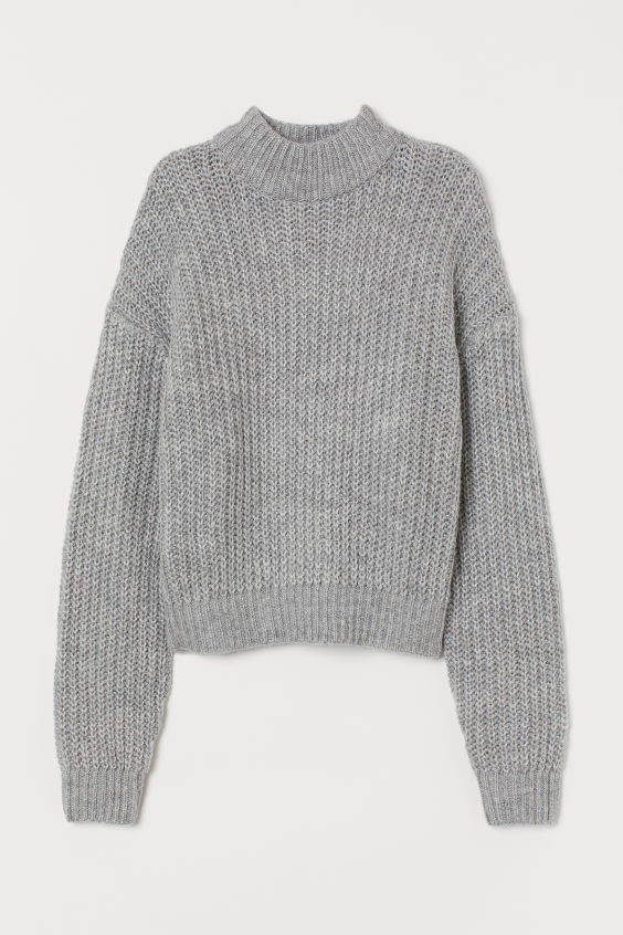 Pullover mit Stehkragen Graumeliert   H&M DE 4