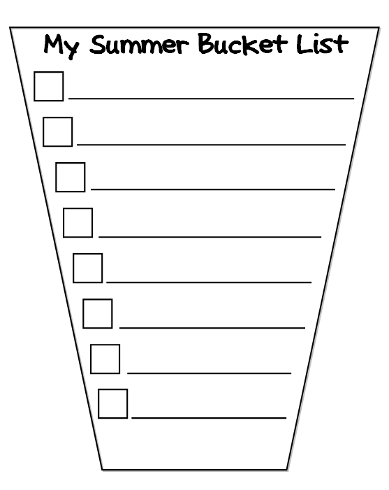 Bucket List Template  Google Search  Bucket List Class