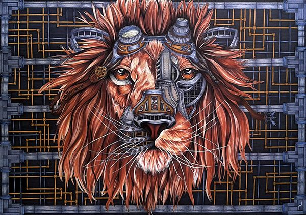 Steampunk Lion on Behance
