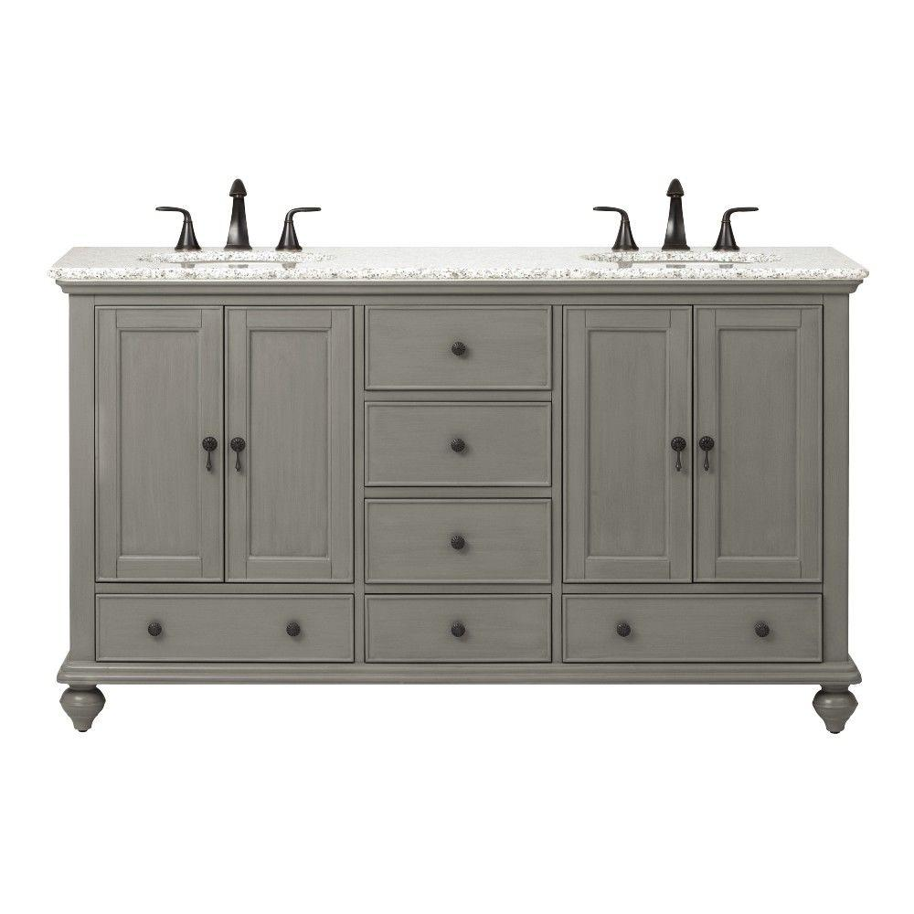Home Decorators Collection Newport 61 In W X 21 1 2 In D Double