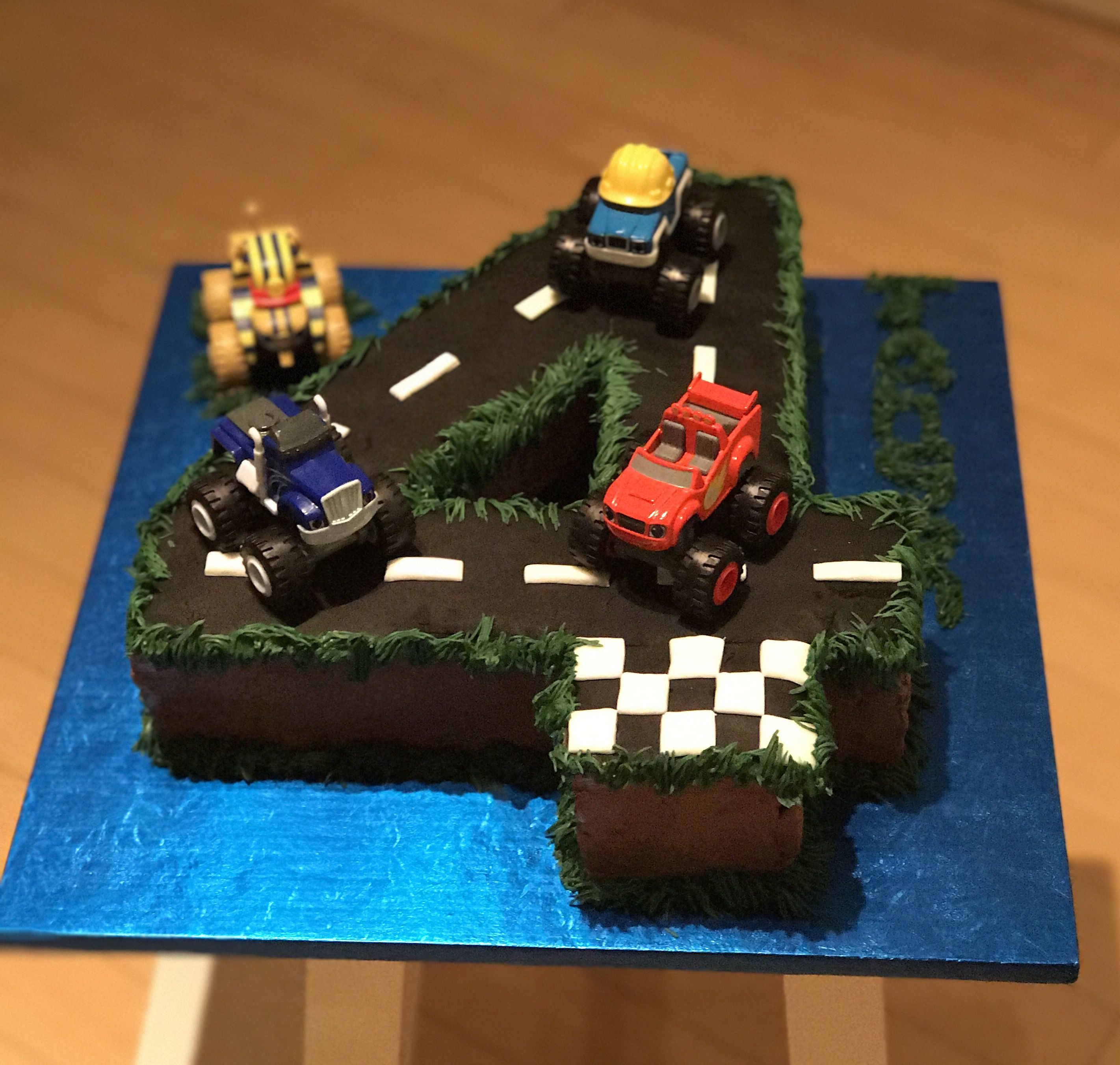 Blaze And The Monster Machines 4th Birthday Cake With Images