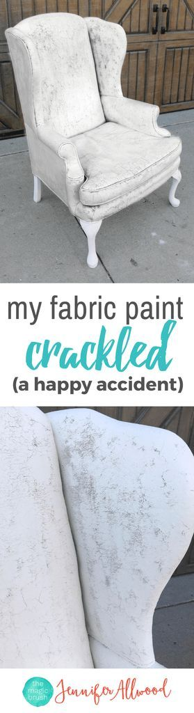 Info's : Crackled Painted Fabric Chair | Magic Brush | DIY Painted Chair Ideas | White Painted Chair #paintedfurniture #paintedfurnitureideas #furniture #DIY #DIYhomedecor #howto #chair