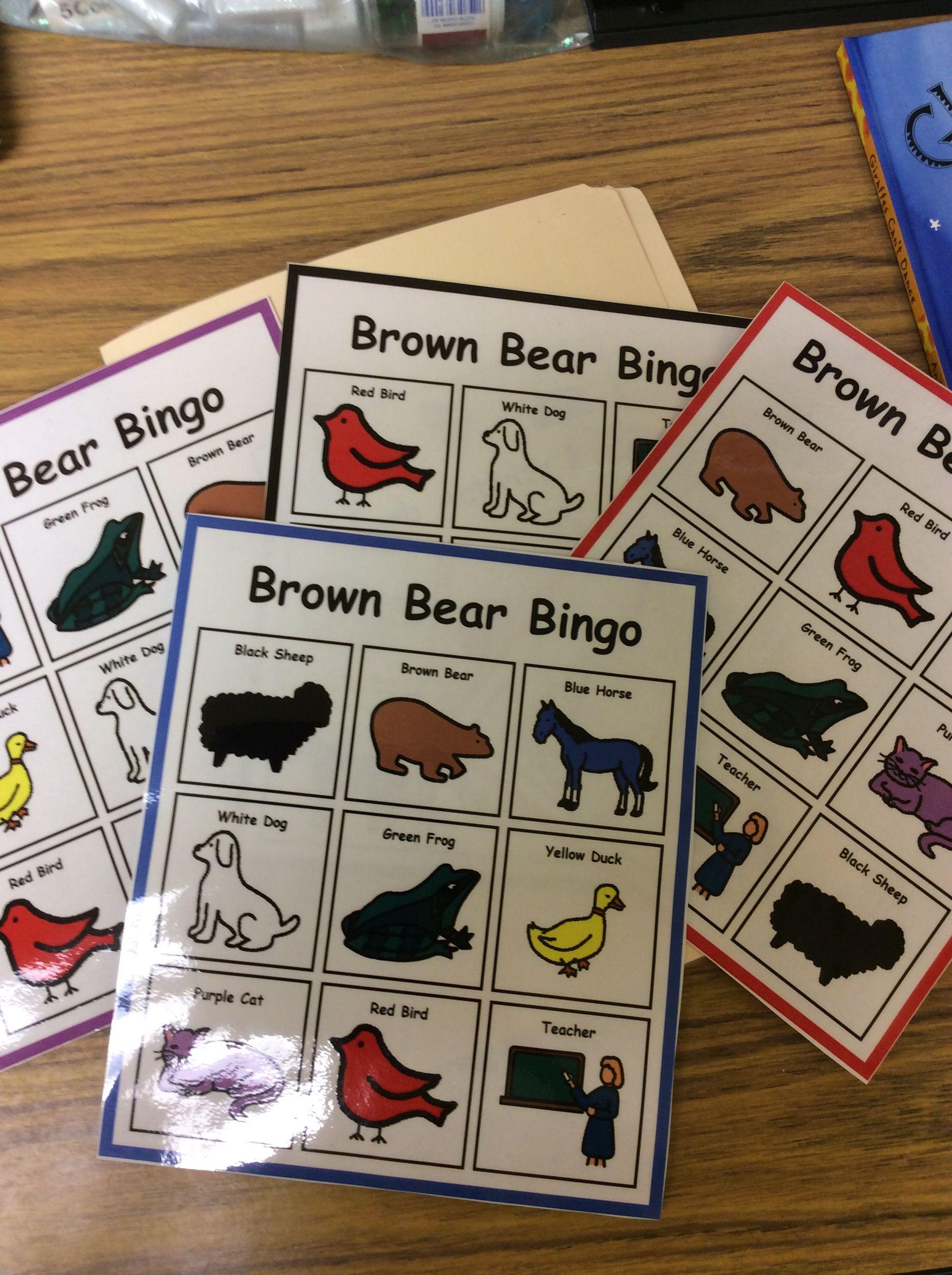 Brown Bear Bingo