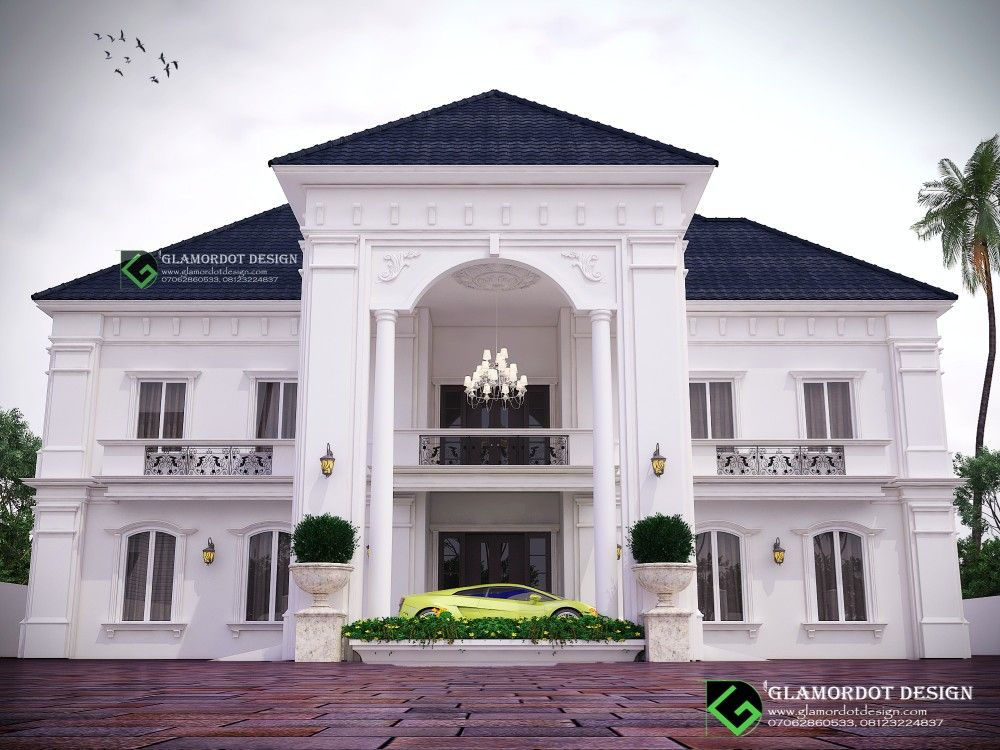 Architectural Design Of A Proposed 5 Bedroom Duplex Design Mansion Designs House Styles Duplex Design