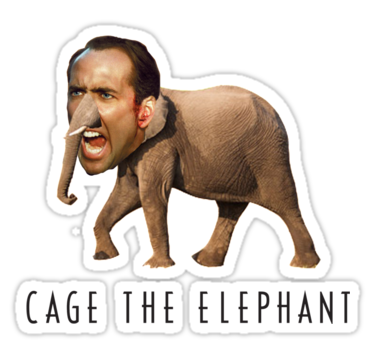 Nicolas Cage The Elephant by ticklish-wizard  783a3fe407e47
