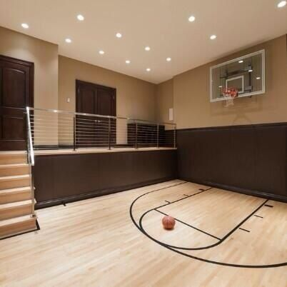 Inside basketball court houses pinterest basketball for Basketball court inside house